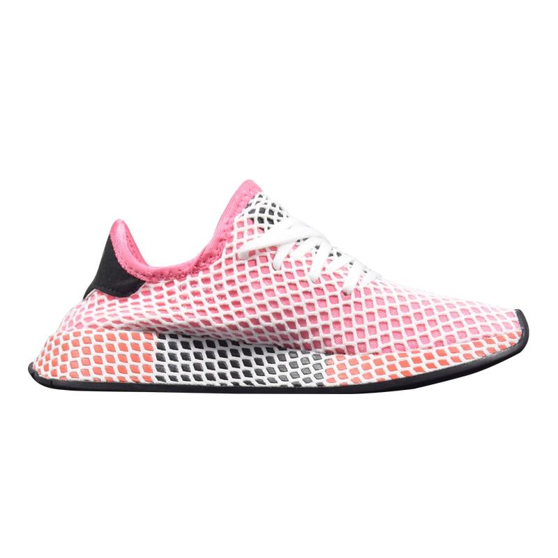 Adidas Deerupt Runner Women Running Shoes Black & Pink/Pink Wear-resistant Breathable Lightweight Sneakers #CQ2909 CQ2910