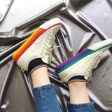 Adidas NIZZA Men Skateboarding Shoes Rainbow Canvas Shoes Hard-Wearing Comfortable Outdoor Sports Sneakers Women #EF2319