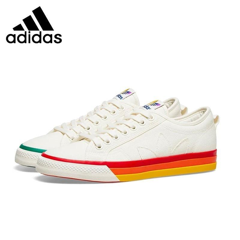 Adidas Nizza Pride Woman Skateboarding Shoes Anti-slip Breathable Sports Sneakers  EF2319