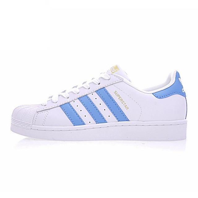 Adidas Official SUPERSTAR Clover Women's and Men's Skateboarding Shoes Low Top Comfortable Durable Outdoor Sports Sneakers