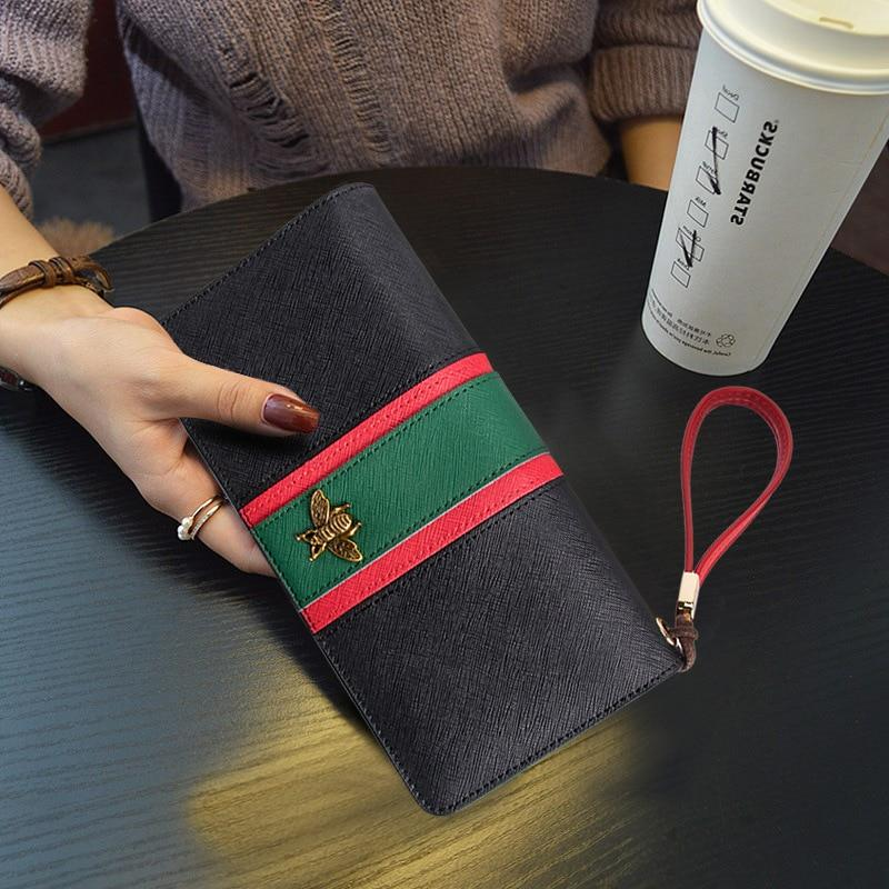Fashion Designer Brand Genuine Leather Women Wallets Long Zippers Purse Ladies Leather Wallet Female Clutch Big Capacity Wallet