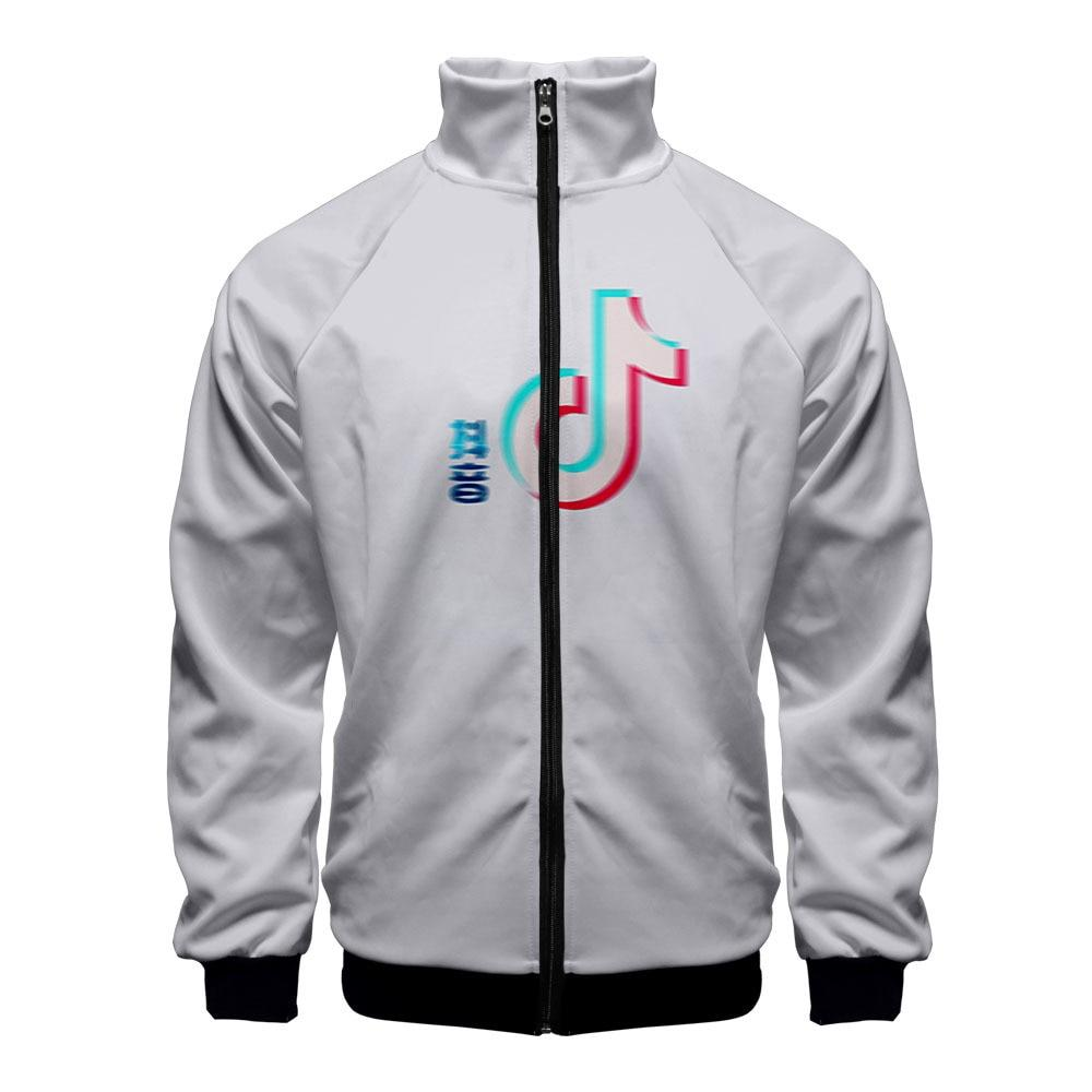 Hot Sales Tik Tok Douyin 3D Stand Collar Zipper Jacket Hoodie
