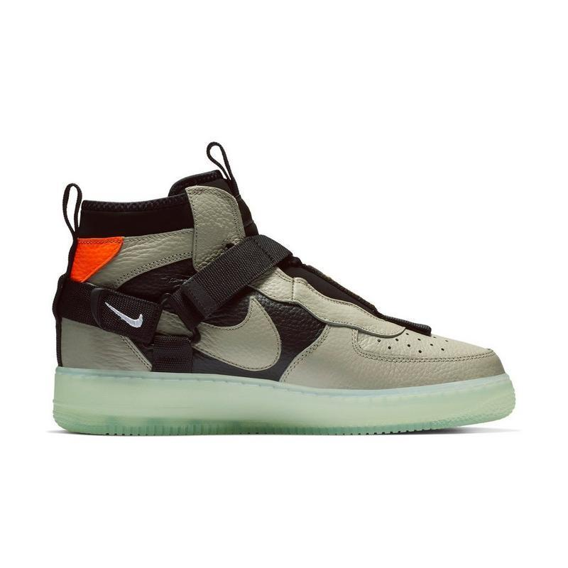 NIKE AIR FORCE 1 UTILITY MID AF1 New Arrival Men Skateboarding Shoes Black Green Anti-Slippery Comfortable Sneakers#AQ9758-300