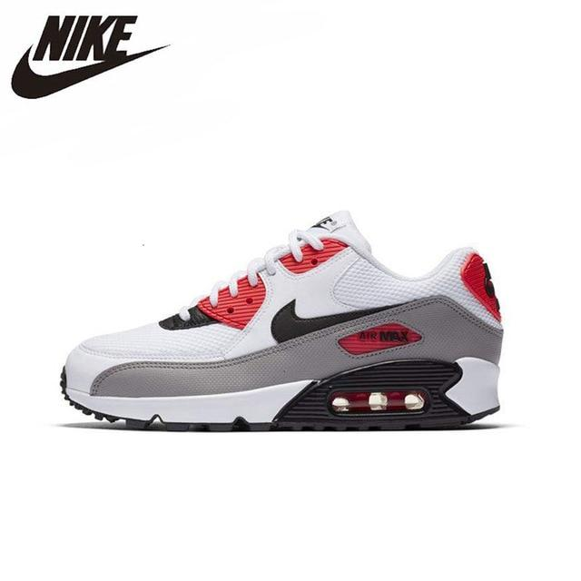 NIKE AIR MAX 90 ESSENTIAL Original Men And Women Sneakers Light Breathable Footwear Sport Running Shoes#537384-089