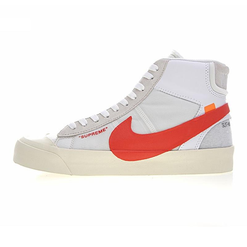 NIKE BLAZER MID Men Skateboarding  Shoes , White, Wraparound, Non-slip, Wear-resistant, Balanced AA3832-006 - Cadeau Me