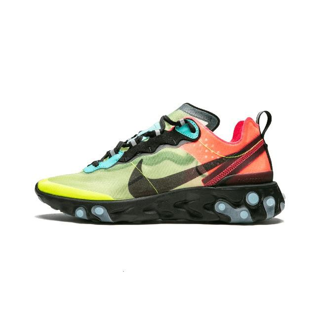 NIKE React Element 87 Shoes Men Sports Running Shoes Breathable Training Outdoor Sneakers New Arrival  #AQ1090-100