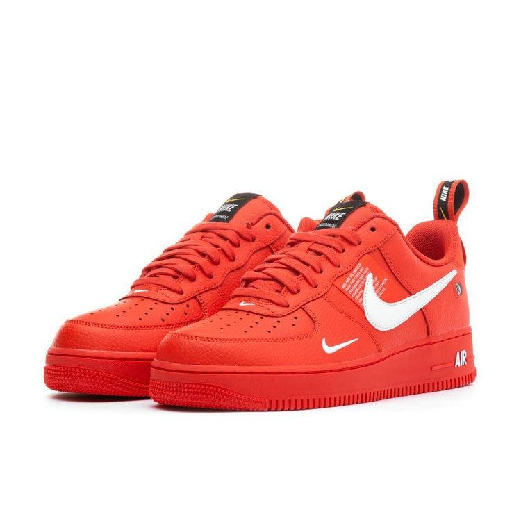 Nike Air Force 1 Af1 Original New Arrival Men Bright Red Skateboarding Shoes Sports Ourdoor Sneakers #AJ7747-800