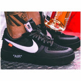 Nike Air Force 1 Original Off-white Ow Jointly Men Skateboarding Shoes Leisure Time Sports Sneakers#AO4606-001