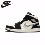 Nike Air Jordan 1 Original New Arrival Men Basketball Shoes Leather Sports Outdoor Sneaker #852542