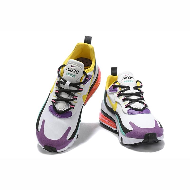 Nike Air Max 270 React Running Shoes for Women Outdoor Sports Sneakers Designer Athletic Footwear Jogging Walking AT6174-002