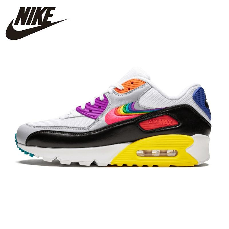 "Nike Air Max 90 BETRUE ""Be True"" Woman Running Shoes Breathable Anti-slip Sports Sneakers New Arrival #CJ5482-100"