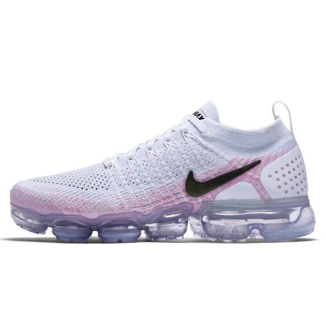 Nike Air Vapormax Flyknit 2.0 Women's Running Shoes White Lightweight Non-slip Shock Absorbing Breathable Sneakers 942843 800