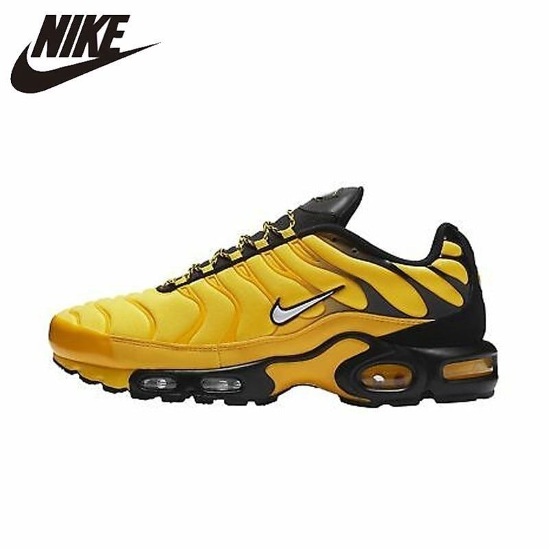 Nike TN Air Max Plus Frequency Pack Original Yellow Black Men Running Shoes Comfortable Sports Lightweight Sneakers #AV7940-700