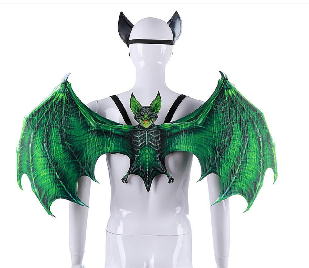 Non-woven Fabric Adult Child Bat Wings Mask Costumes Wicked Wings Horror Party Supplies Halloween Decoration