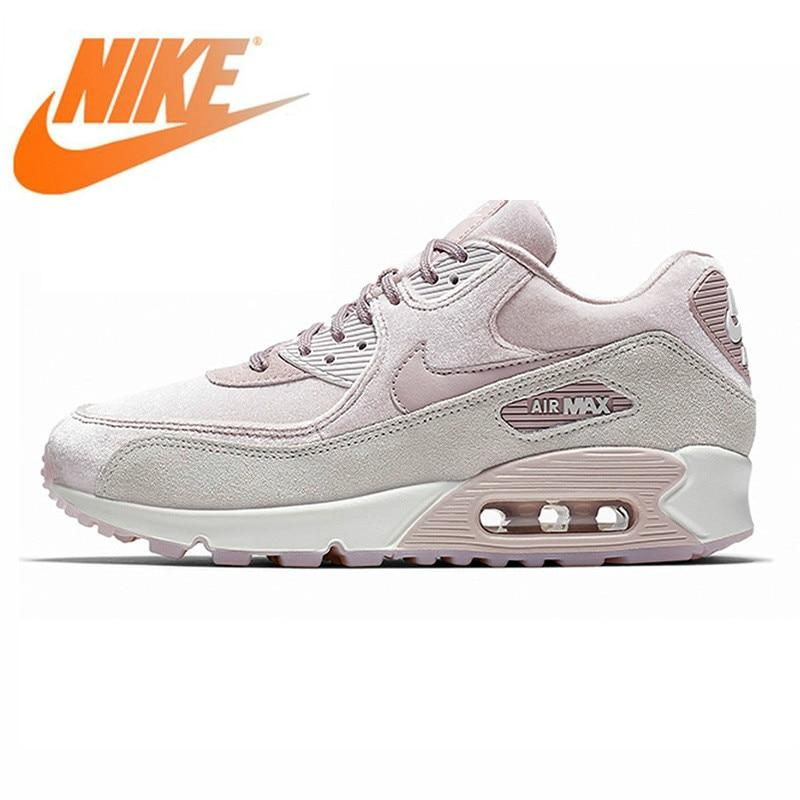 Original Authentic NIKE AIR MAX 90 LX Women's Running Shoes Outdoor Sneakers Lace-up Durable Athletic Designer Footwear 2019 New