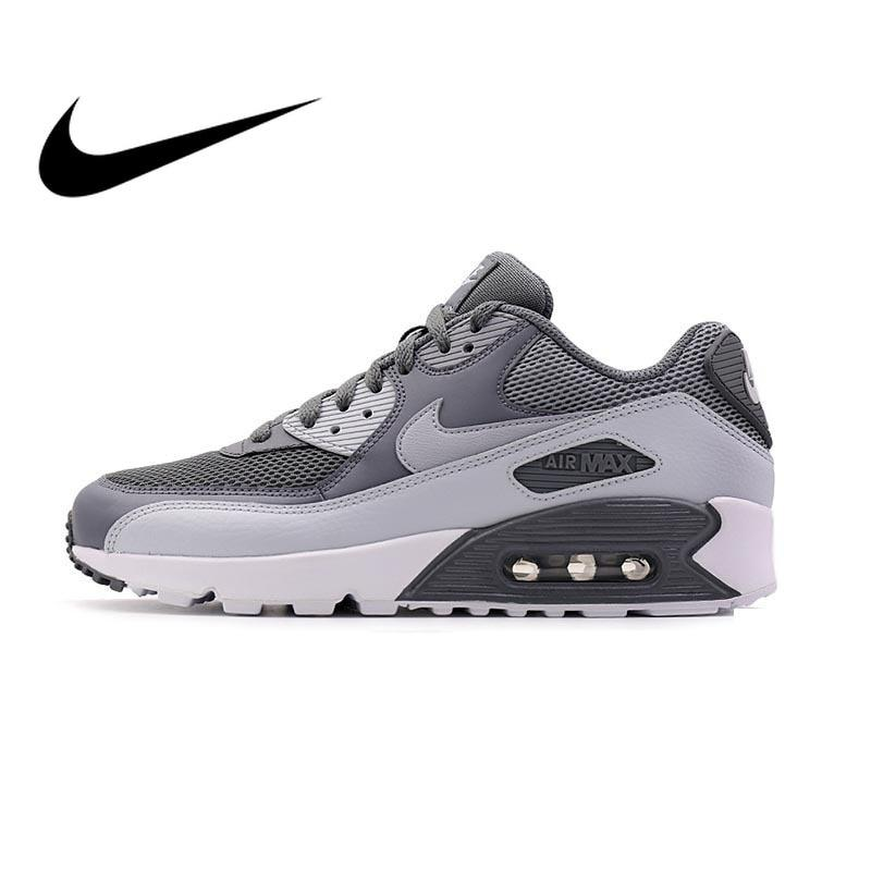 Original Authentic NIKE Men's AIR MAX 90 ESSENTIAL Breathable Running Shoes Sneakers Sport Outdoor Comfortable 537384-073 - Cadeau Me