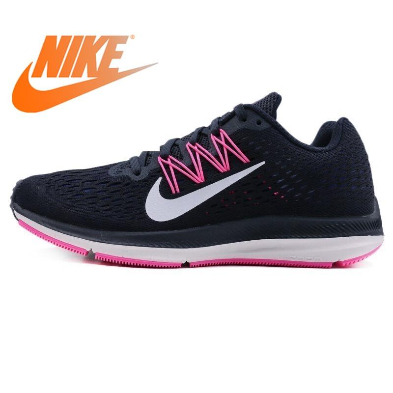 Original Authentic NIKE ZOOM WINFLO 5 Women's Running Shoes Sneakers Lace-up Athletic Breathable  Rubber  Lightweight Non-slip - Cadeau Me
