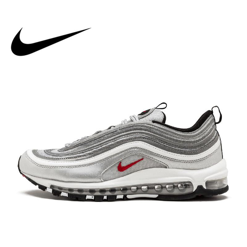 Original Authentic Nike Air Max 97 OG QS Women's Breatheable Running Shoes Outdoor Sports Low-top Sneakers Brand Designer