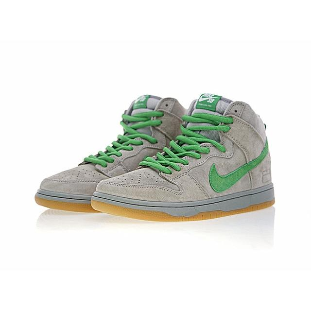 Original Authentic Nike SB Dunk High Premium Men's Skateboarding Shoes Sneakers Grey Box Athletic Designer Footwear 2018 New - Cadeau Me