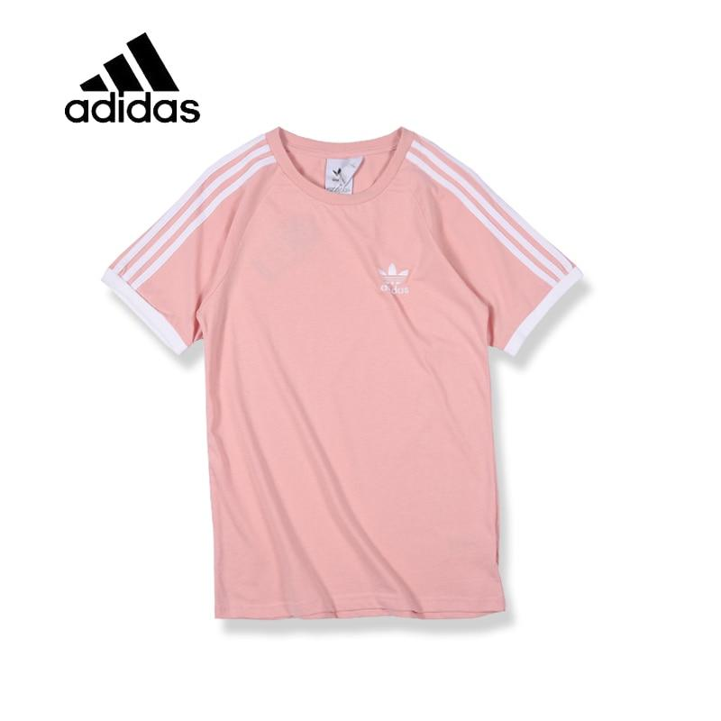 Original New Arrival Authentic Adidas Mens T-shirts Short Sleeve Male Pink Leisure Sportswear Breathable Quick Dry Shirt - Cadeau Me