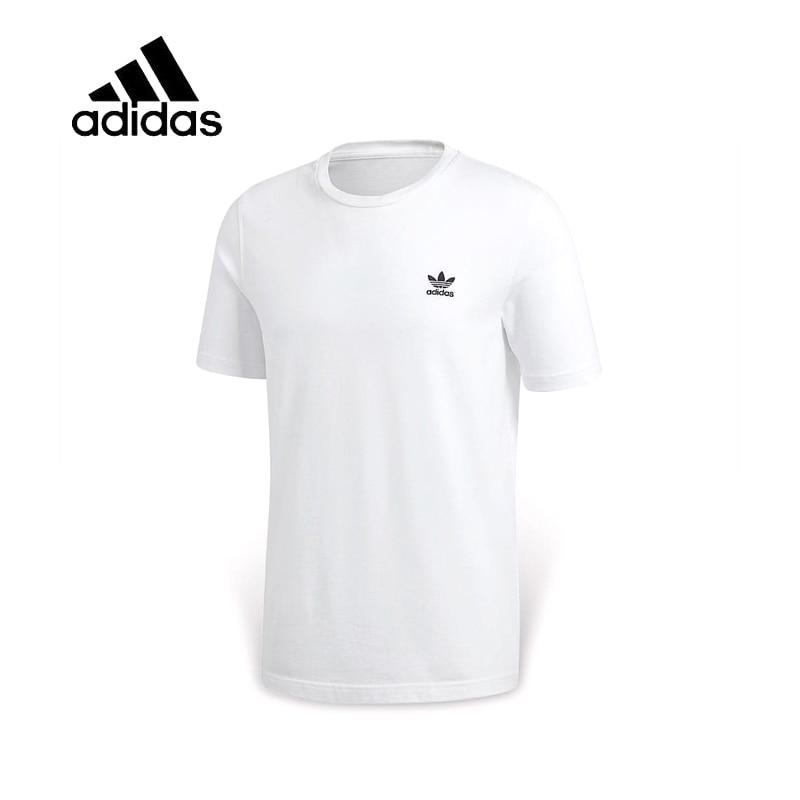 Original New Arrival Authentic Adidas Mens T-shirts Short Sleeve Male White Leisure Sportswear Breathable Quick Dry Shirt - Cadeau Me