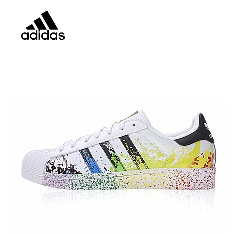 Original New Arrival Official Adidas Clover Man and woman Skateboard Shoes Classic breathable shoes outdoor anti-slip D70351