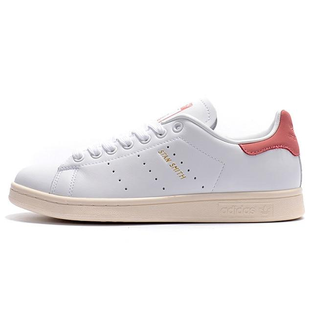 Original New Arrival Official Adidas Clover STAN SMITH Men and Women Skateboarding Shoes Breathable Sneakers Outdoor S80024