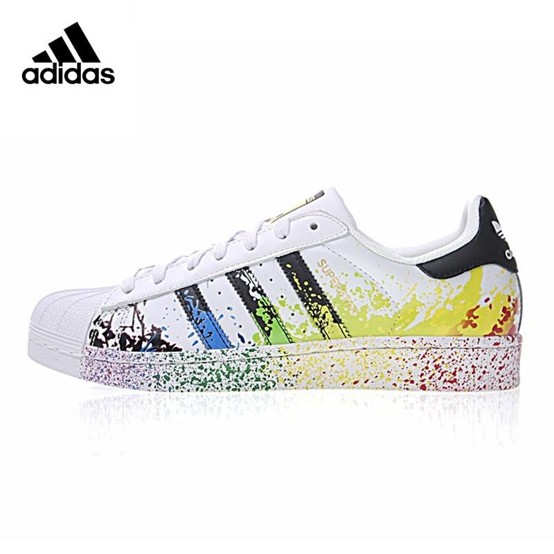 Original New Arrival Official Adidas Clover Superstar Gold Label Men and Women Skateboarding Shoes Sneakers D70351/D70352