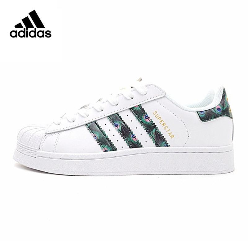 Original New Arrival Official Adidas Clover Superstar Shell Head Gold Label Woman Skateboard Shoes CP9388