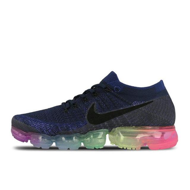 Original  Nike Air VaporMax Be True Flyknit Breathable Men's Running Shoes Sports New Arrival Official Sneakers Outdoor Rainbow - Cadeau Me