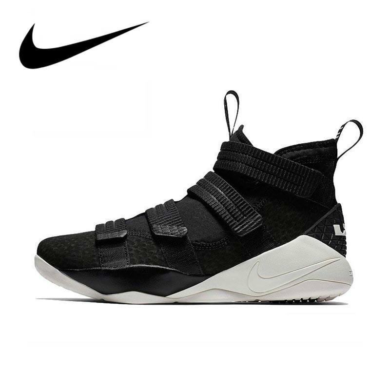 Original Nike LEBRON SOLDIER 11 Men's Basketball Shoes Cozy Good Quality Non-slip Sport Outdoor Sneakers 2018 New Arrival 897647 - Cadeau Me