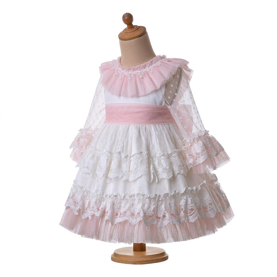 Pettigirl New Arrival Spring Summer White Communion Girl Wedding  Flower Party Ceremony Layers Dress For Girl G-DMGD112-C128 - Cadeau Me