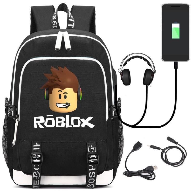 Robloxer game multifunction USB charging backpack for Kids Boys Children teenagers Men  School Bags travel Laptop Bags - Cadeau Me