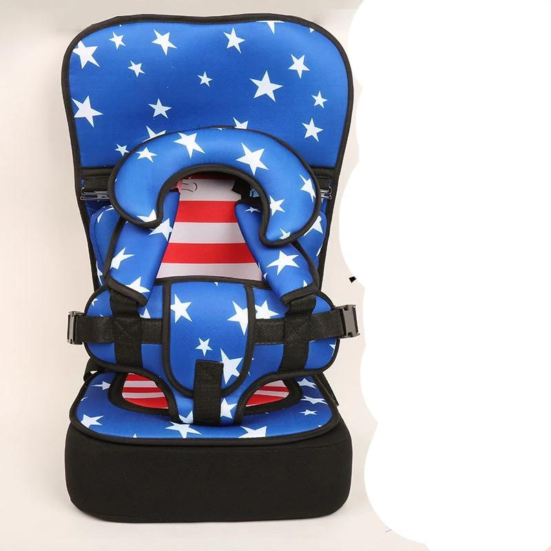 Baby portable car cushion child safety seat baby easy 0-4 year old 3-7 high (U.S. Captain (6 months to 3 years old) with booster pads)