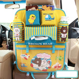 Car Back Seat Organizer for Kids -Fancy Mobility Car Backseat Organizer - Baby Accessories, Kids Small Toys & Travel Essentials Holder - Great Storage Bag for Road Trips - Perfect Baby Shower Gift - Includes Visor Organizer