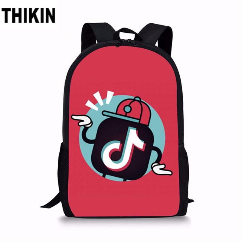 THIKIN Tik Tok Student School Backpack 3 PCS/SET Fashion Schoolbags for Teenage Boys Girls Funny Logo Children Daily Bag Custom - Cadeau Me