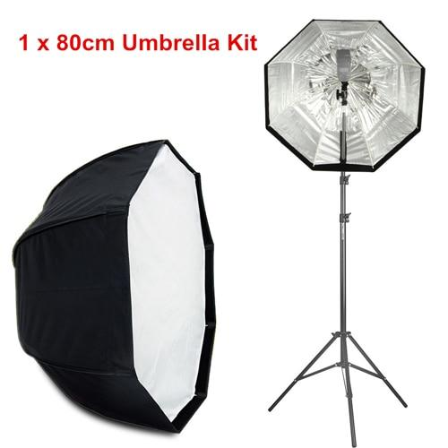 "Viltrox 80cm/120cm Octagon Umbrella Photo Softbox Studio Reflector+74.8"" Light Stand+Flash Bracket kit for DSLR Camera Speedlite - Cadeau Me"