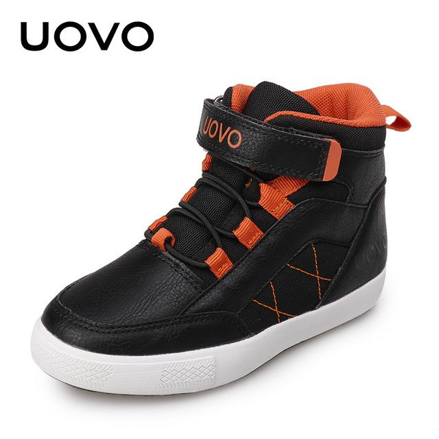 UOVO 2017 New Arrival Autumn Winter Walking Shoes Fashion Boys Casual Shoes Children Warm Comforable Sneaker Eur28#-37# - Cadeau Me