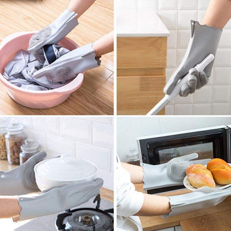 Kitchen Silicone Cleaning/Dishwahing Gloves