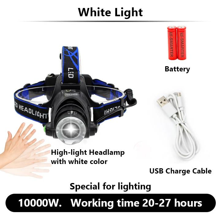 LED Headlamp with Induction