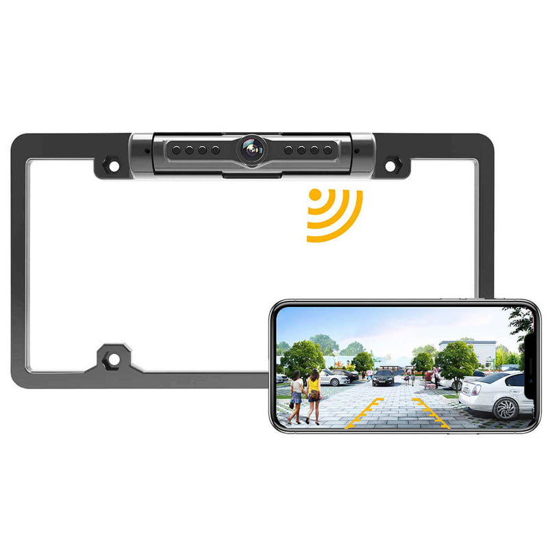 License Plate Solar Wireless Camera - Dedicated to U.S. License Plate(Anti-theft Version)