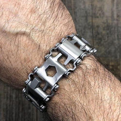 Unisex Multi-Tool Wearable Stainless Steel Bracelet(Adjustable Length)