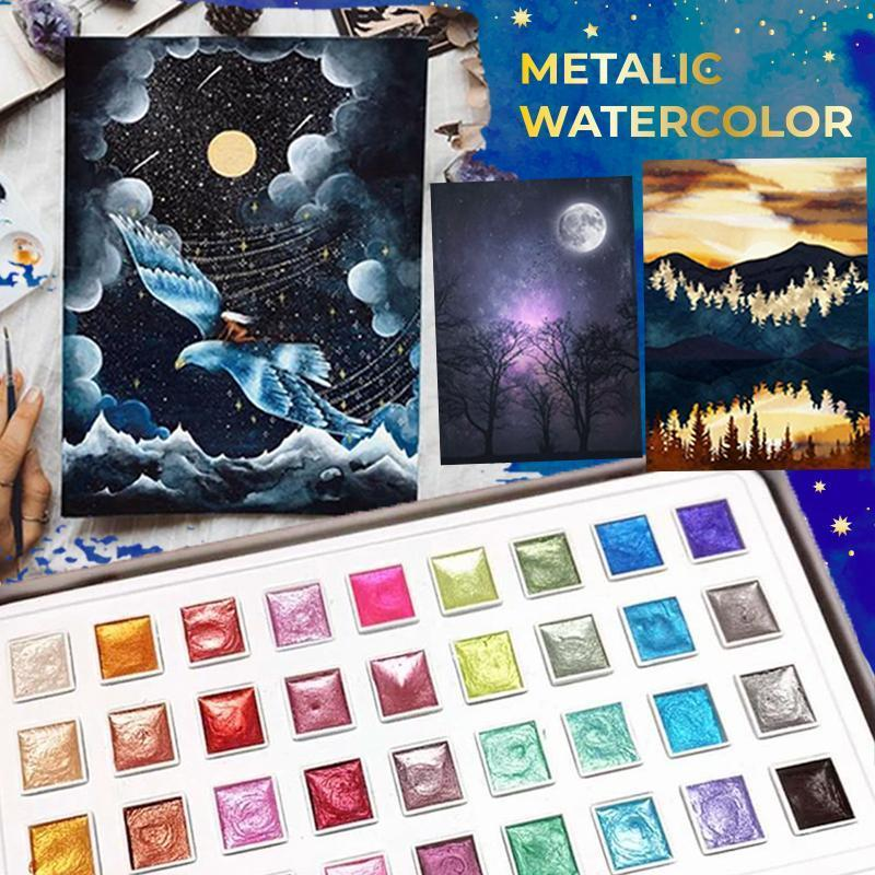 Metallic Watercolor Set