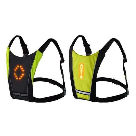 Wireless Remote Control LED Turn Signal Vest Backpack