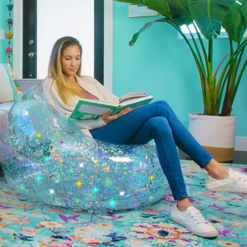 Glitter Inflatable Lazy Sofa PVC Chair