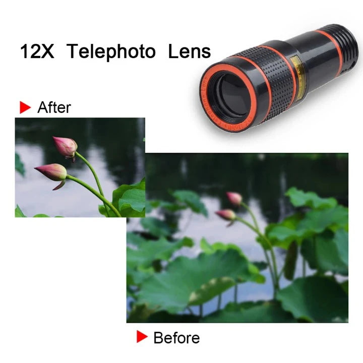 Magic 12x Zoom Telescopic Lens (Compatible With All Phones)