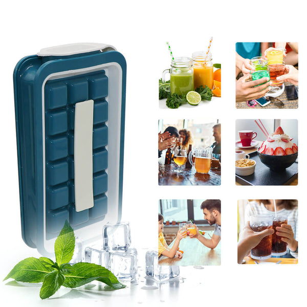 Ice Cubes Maker Bottle With Lid