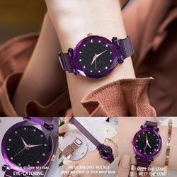 Water-resistant Magnetic Strap Starry Sky Watch