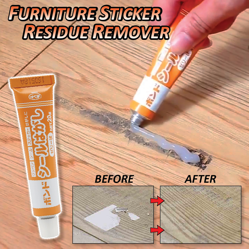 Furniture Sticker Residue