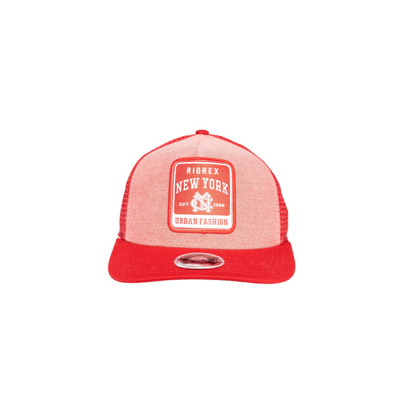 Red Merrowed Edge Patch Hat